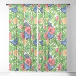 Tropical pattern Sheer Curtain