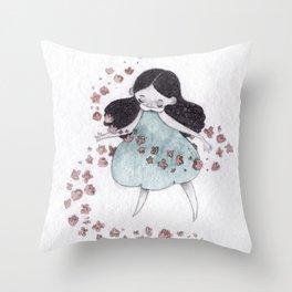 Flower hurricane Throw Pillow