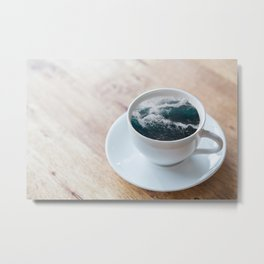 Pacific Cup of Tea Metal Print