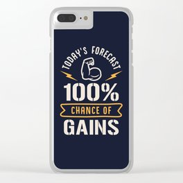 Today's Forecast 100% Chance Of Gains Clear iPhone Case