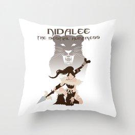 LoL - Nidalee,  The Bestial Huntress Throw Pillow