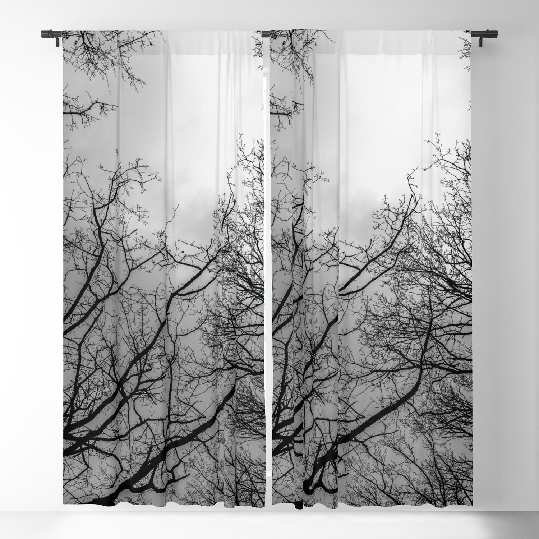 White Trees Blackout Curtain