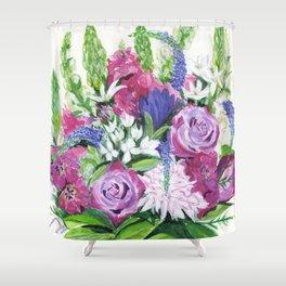 Natalie's Bouquet Shower Curtain