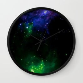 The Cosmos (blue and green) Wall Clock