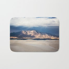 Sunlight on San Andres - Desert Scenery at White Sands New Mexico Bath Mat