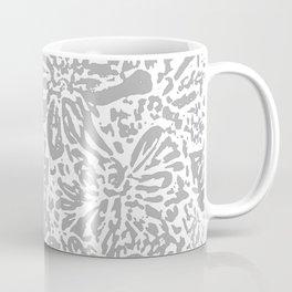 Marigold Lino Cut, Cloud Grey Coffee Mug