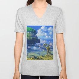 Castle in the sky Unisex V-Neck