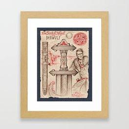 The Sword of Wiglaf Framed Art Print