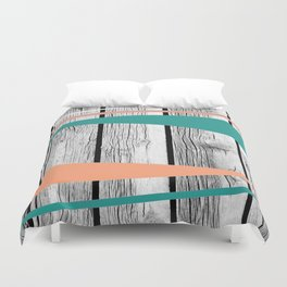 Colored arrows on wood Duvet Cover