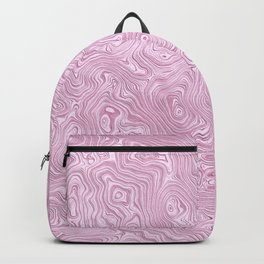 Powder Pink Silk Moire Pattern Backpack