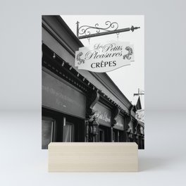 Les Crepes BW Mini Art Print