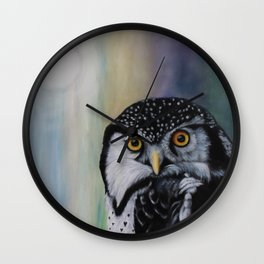 Day Lover Owl Wall Clock