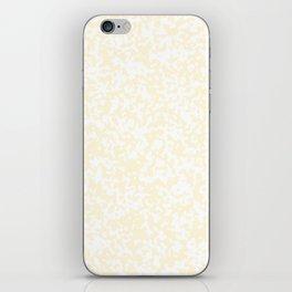 Small Spots - White and Cornsilk Yellow iPhone Skin