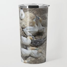 Gannets in a row Travel Mug