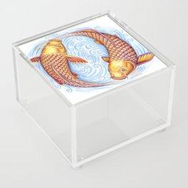 Pisces Fish Yin Yang Mandala Acrylic Box
