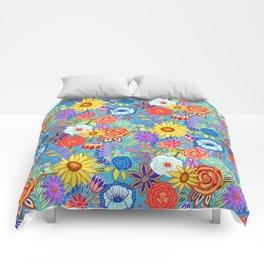 Spring Festive Floral  Comforters