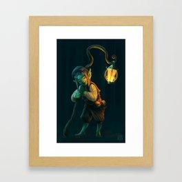 Lantern Goblin (#Drawlloween2016 Series) Framed Art Print