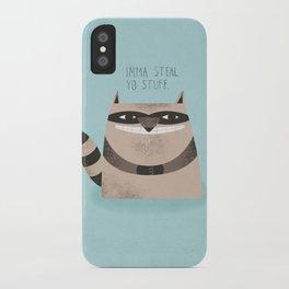 Sneaky Raccoon iPhone Case
