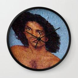 Portrait purple Wall Clock