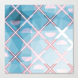 Abstract Triangulated XOX Design Canvas Print