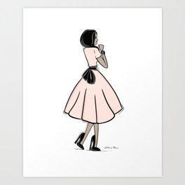 Bouclée Fashion Illustration Art Print