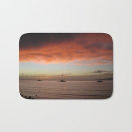Molokai Sunset In December Bath Mat