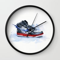 nike Wall Clocks featuring Nike dunk by istraille