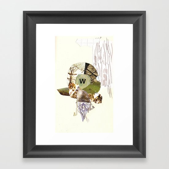 W is for Wolf Framed Art Print