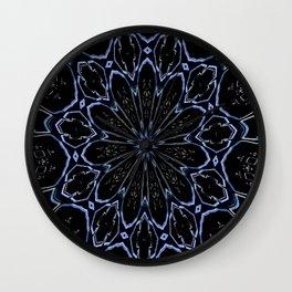 Flower Crystallization Wall Clock