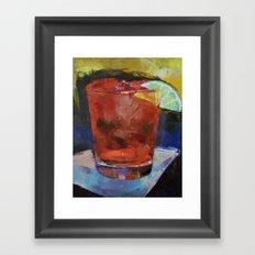 Hurricane Cocktail Framed Art Print