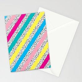 80's / 90's Stripes Stationery Cards