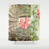 theatre Shower Curtains featuring A Night At The Theatre by Aimee Stewart