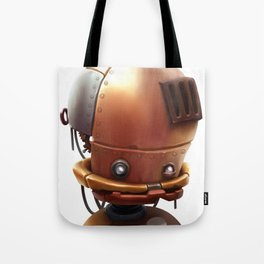 The wierd cute steampunk robot Tote Bag