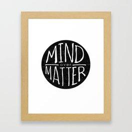 mind - matter Framed Art Print