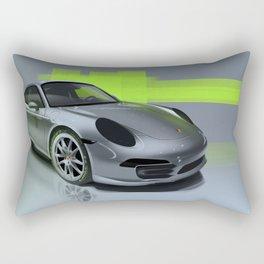 Porsche 911 Digital Painting   Automotive   Car Rectangular Pillow