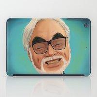 hayao miyazaki iPad Cases featuring Hayao Miyasaki by CarolaRT