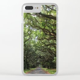 Magical southern oaks Clear iPhone Case