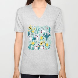 The tortoise and the hare Unisex V-Neck