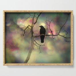 Crow Dreams In Colors Serving Tray