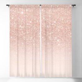 Pink Glitter Blackout Curtain