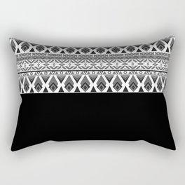 Black and white patchwork .2 Rectangular Pillow