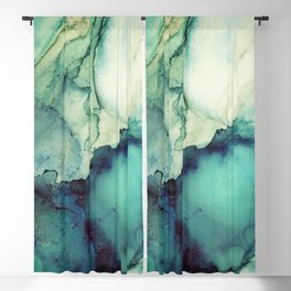 Teal Abstract Blackout Curtain