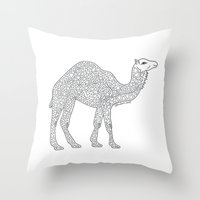 camel Throw Pillows featuring Camel by Emmy