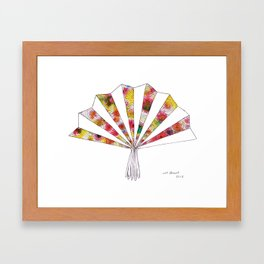 swirls - fan  Framed Art Print