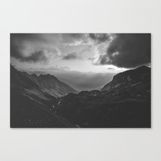 Valley - black and white landscape photography Canvas Print
