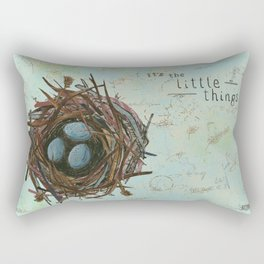 It's the Little Things Rectangular Pillow
