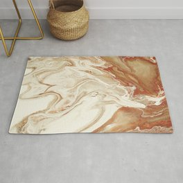 Abstract hand painted fluid art  Rug