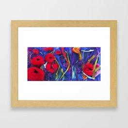 poppy pad Framed Art Print