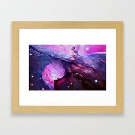 Wavy Galaxy Framed Art Print