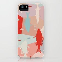California Pastel Fish iPhone Case
